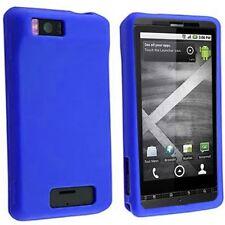 Silicone Skin Case for Motorola Droid X - Blue