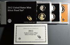2012  U. S. MINT SILVER PROOF 14-COIN SET, ORIGINAL MINT PACKAGE W/COA, SKU-2919