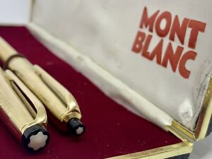 Rare 1960's Montblanc 82 86 MeisterStuck Gold Fountain Pen&Pencil in Box-18k ni2