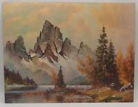 Timberline Lake by Wilmer Winde Fine Prints 114 Vintage Lithograph Print 11x14