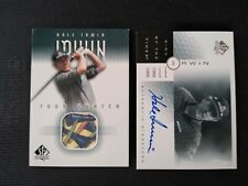 Hale Irwin  PGA Tour Legend 2 Card auction. Both Upper Deck SP,  Auto  & Swatch
