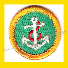 BOATING Junior Girl Scout World of Out Doors Badge NEW Patch Anchor Combine