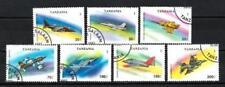 Avions Tanzanie (50) série complète de 7 timbres oblitérés