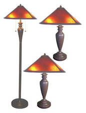 Set of Three Americana Mica Lamps
