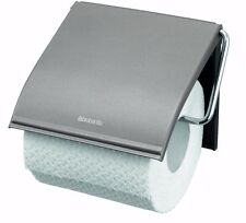 Brabantia Platinum Wall Mounted Steel Toilet Roll Holder Left Or Right Filling