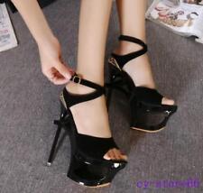 Womens Sandals Open Toe Platform High Heels Stilettos Slingback Pole Dance Shoes