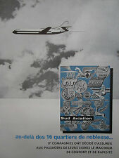 5/1962 PUB SUD AVIATION CARAVELLE AIRLINER AIRLINES TWA SAS RAM TAP FRENCH AD