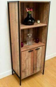 Oak Stretton 2 Door Bookcase Storage Cabinet Shelving Display Sideboard    BTAD