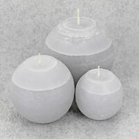 Grey Ombre Balls Candles By G Decor
