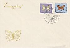 DDR FDC Ersttagsbrief 1964 Schmetterlinge Mi.Nr.1005+8