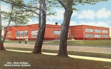 Grand Junction Colorado~High School Thru Trees, Across the Street 1940s Postcard