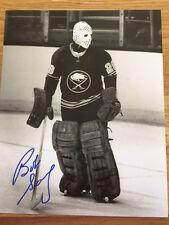 Buffalo Sabres Bob Sauve signed 8x10 W/COA pose 4