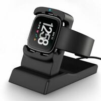 USB Charging Dock Station Charger Cord Cradle Stand For Fitbit Versa Smart Watch