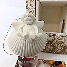 Margaret Furlong Christmas Ornament 1997 Miniature Viola Angel Shell