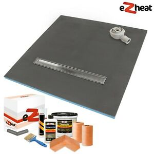 Wet Room Wetroom Shower Tray Kit 30mm Walk In Linear Drain All Sizes Available