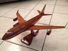 Maquette Avion BOEING B747 400 En Bois 43cm
