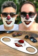 CREEPY SCARY CLOWN MASK FACE COVER BREATHEABLE FABRIC WASHABLE REUSABLE SOFT USA