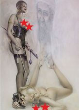 Sorayama Japanese Erotic Art Poster Print Pinup Girl Heels Leather