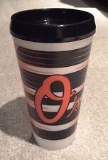 4 Baltimore Oriole's 32oz White Tumbler w/ Black Drink through Lid