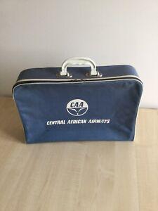Vintage Central African  Airways Travel Bag /case