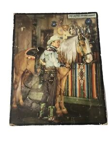 Vintage 1952 Roy Rogers Whitman Frame Tray Inlay Picture Puzzle Jigsaw