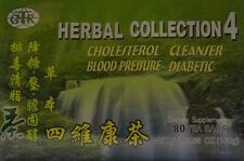HERBAL COLLECTION 4 CHOLESTEROL CLEANSER BLOOD PRESSURE DIABETIC TEA SUPPLEMENT