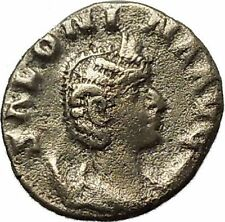 SALONINA daughter in law of Valerian I Silver Ancient  Roman Coin Juno  i40001