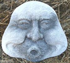 Gostatue MOLD plaster concrete plastic mold funny blowing garden face