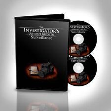 Retail: $397 Private Investigator Surveillance Training DVDs. Be a Detective.