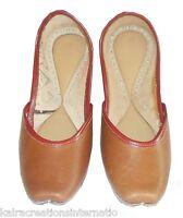 Women Shoes Indian Handmade Traditional Brown Leather Ballerinas Mojari US 5