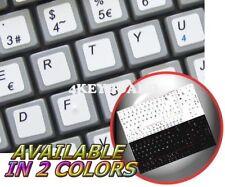 SPANISH NETBOOK KEYBOARD STICKER WHITE