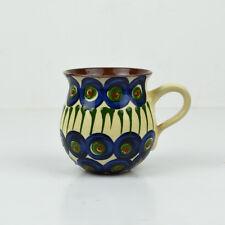 Becher Bunzlauer Tippel Pfauenauge / altes Muster / Keramik / german pottery