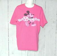Walt Disney World Mickey Mouse T-Shirt Disneyland Pink Mens L Hanes