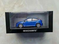 1:43 Minichamps Ford Focus RS Indianapolis Blau Metallic Blue 400 088101