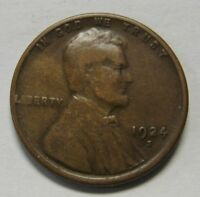 1924-S Lincoln Wheat Cent in Average Circulated Condition    DUTCH AUCTION