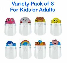Set Of 8 Kids Face Shield With Glasses Visor Protection Mouth Cover Reusable