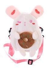 LB-228-4 White Bunny Rabbit Bunny Donut Plush Bag Lolita Pastel Kawaii Cute