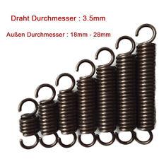 Drahtdurchmesser 2.5mm Zugfeder Verlänger Verlängerung Erweitert Federn 45-500mm