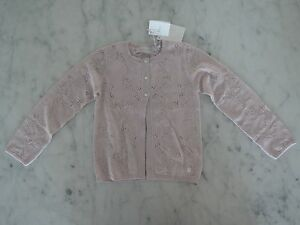 Christian Dior Girls Cardigan Pink Merino Wool Size: 6 Years NEW