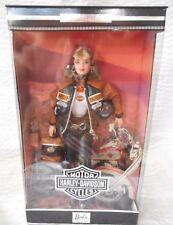 Harley Davidson Barbie & Ken Dolls #25637 & 25637 and Black Flames #29016