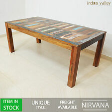 Nirvana reclaimed wood garden farmhouse Dining table dinner 12 seater LARGE 2.2m