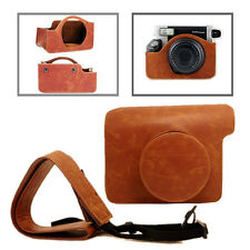 Vintage PU Leather Case Bag For Fuji Fujifilm Instax Wide 300 Camera Brown