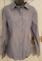 RIVERS Size 12 Shirt Blue/White Striped Fitted VGC Women's Ladies