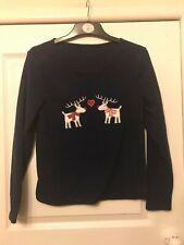 Señoras Azul Marino Reno Temática Navidad Pijamas-Pequeño-nuevo y embolsado