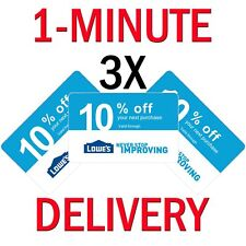 𝟑× Lowes 10% PERCENT 3COUPONS Expires 𝟕/𝟏𝟓 In-Store ONLY - Instant Delivery