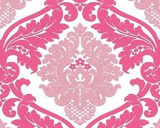 Bling Bling 3139-35 Pink Glitter Damask Wallpaper Shiny Shimmer Shine Girls