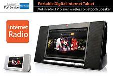 Portable Digital Internet WiFi Radio TV player Tablet wireless bluetooth Speaker