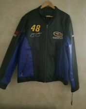 Nascar Jimmie Johnson #48 Team Lowes Racing Wilsons FAUX Leather NWT! XL