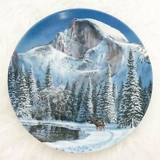 Vintage W.S. George Blue Snow At Half Dome Natures Legacy Jean Sias Plate