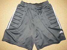 Super Adidas padded side black shorts - adult / mens L-Xl-2Xl - soccer, rugby +
